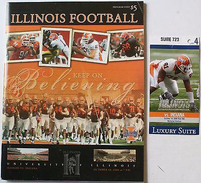 2008 University of Illinois vs. Indiana Program & Ticket College Football Poster