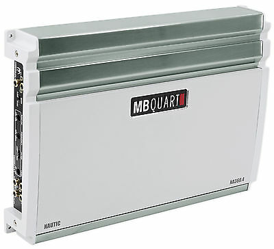 MB QUART NA360.4 360 Watt RMS Nautic Series 4-Channel Marine Boat Amplifier Amp