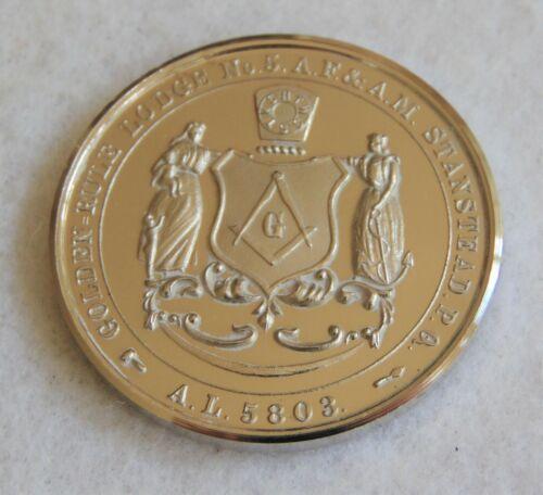 MASONIC GOLDEN RULE LODGE NO.5,QUEBEC, AF&AM, PROOF LIKE MEDAL, 1978