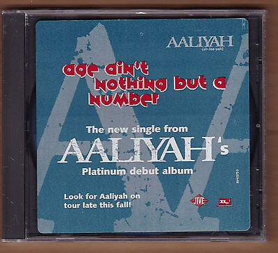 """AALIYAH promo cd single """"Age Ain't Nothing But A Number"""" 1994 Jive NEW Sealed  for sale  Englishtown"""