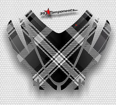 Arctic Cat M7 M8 M1000 Crossfire 05 - 11 Graphics Hood Decal Kit Plaid Black