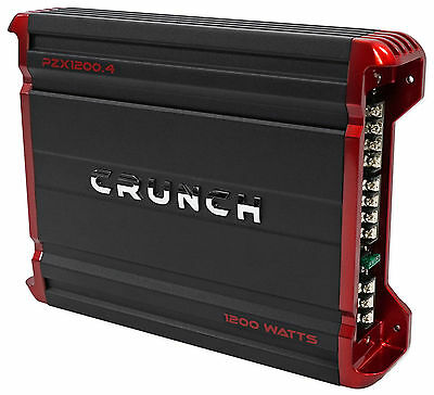 Crunch PZX1200.4 1200 Watt 4 Channel Powerful Car Audio Amplifier Amp