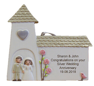 Silver (25th) Wedding Anniversary Personalised Engraved Gift - 25 Wedding Anniversary Gifts