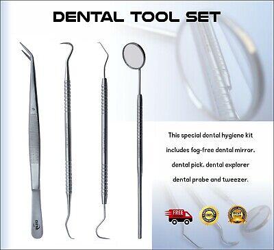 Dental Tooth Kit Mirror Scraper Pick Probe Explorer Calculus Plaque Remover Set
