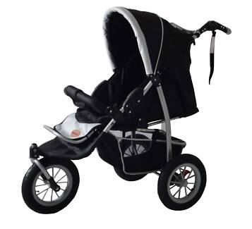 BRAND NEW MAMAKIDDIES 3 WHEEL PRAM BUGGY STROLLER JOGGER Auburn Auburn Area Preview