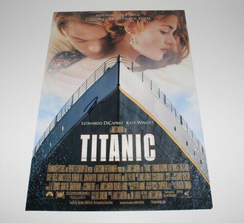 ACTOR LEONARDO DICAPRIO SIGNED 'TITANIC' 12x18 MOVIE POSTER w/COA LEO JACK