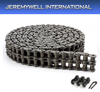 100h-2 Double Strand Duplex Roller Chain 10 Feet With 1 Connecting Link