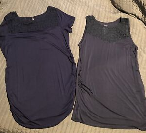 2  size large brand new navy boys maternity tops