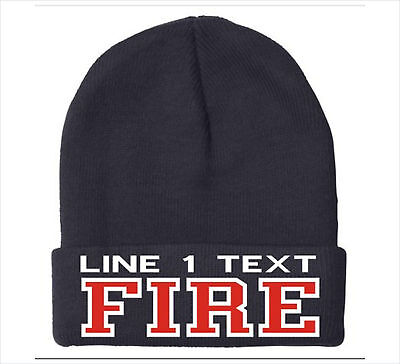 Firefighter Winter Hat - Custom Embroidered