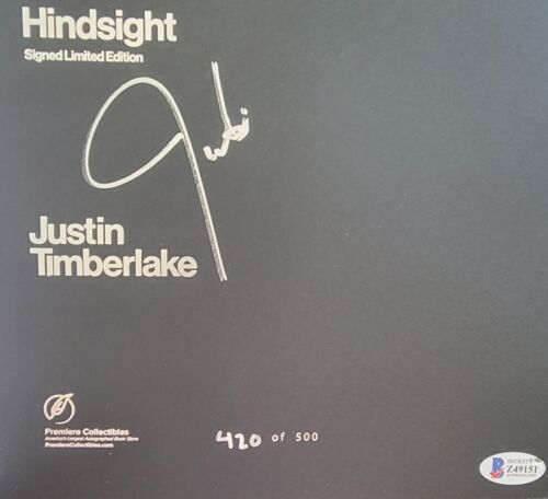 Justin Timberlake Autographed Signed 420/500 Book Beckett Authenticated FREE S/H