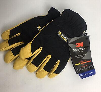 New Holmes Workwear 3m Thinsulate Goatskin Leather Winter Work Gloves Medium
