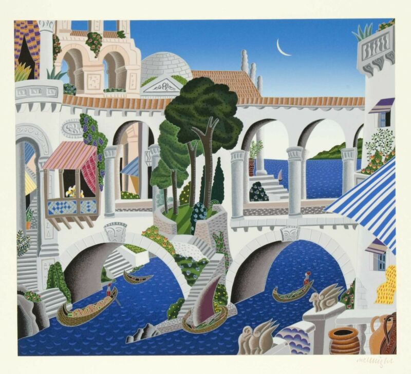 "Thomas Mcknight - ""classical Bridge"", Hand-signed Serigraph"