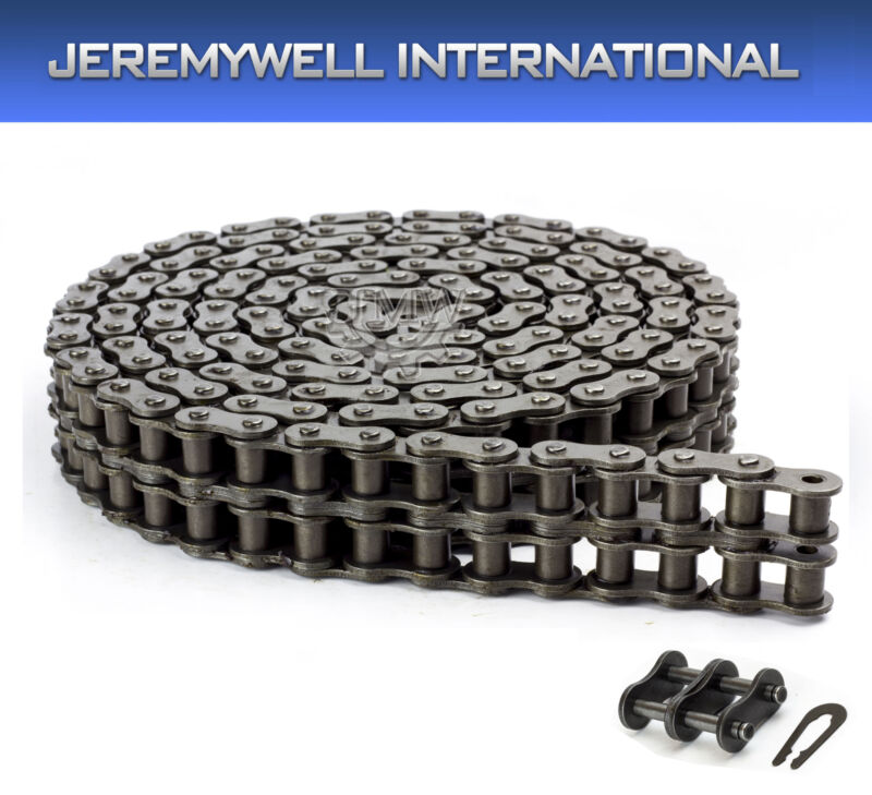 #50-2 Double Strand Duplex Roller Chain 10 Feet with 1 Connecting Link