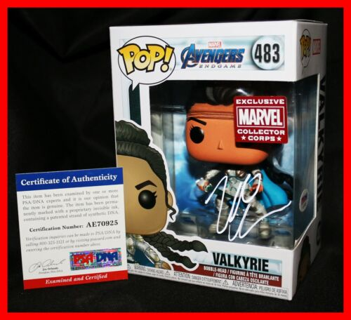🔥 Tessa Thompson Valkyrie Signed Avengers Endgame Exclusive Funko POP PSA 🔥