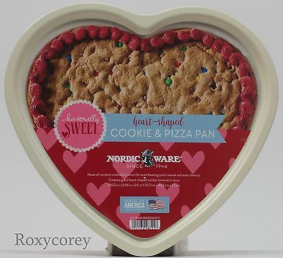 Valentine's Day Nordic Ware Heart Shaped Cookie & Pizza Pan