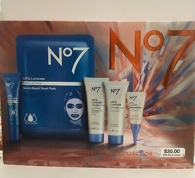 No7 The Best Lift& Luminate Collection Set Exp 03/21 $56.50 In