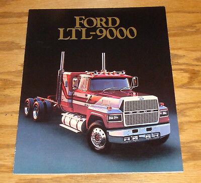 Original 1985 Ford LTL-9000 Semi Truck Sales Brochure 85