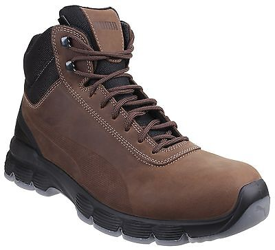 Puma Condor Mid Safety Water Resistant Mens Industrial Work Boots Shoes UK6-12