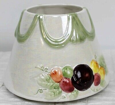 Yankee Candle Lg Shade Iridescent Green Fruits Scallop Banner Fall Autumn Berry