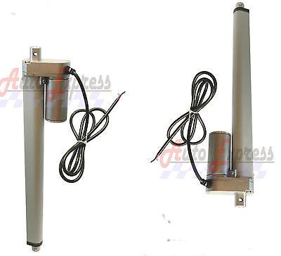 2 Heavy Duty 16 Inch Linear Actuators Stroke 12 Volt Dc 200 Pound Max Lift Set
