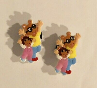 Adorable PBS Arthur & DW 2 Shoe Crocs Charms Jibbitz
