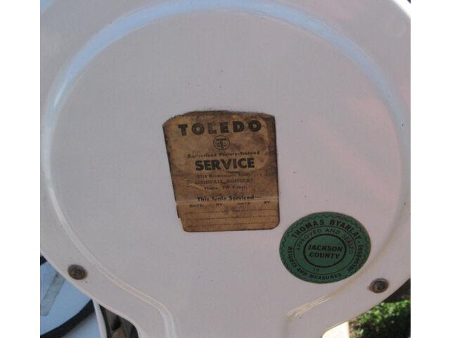 Vintage Antique Defiance Toledo Meat Deli Counter Mercantile Scale 30lb 4515 EM