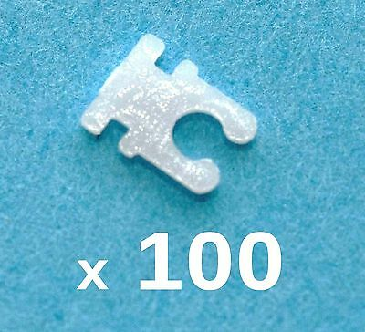 100 x NEW Crown Time Stopper WHITE Plastic Watch Battery Saver Clip stem lock