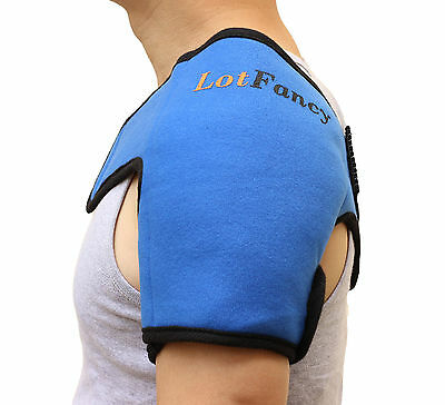 Gel Ice Pack with Shoulder Wrap Hot Cold Therapy for Sport Injuries Sprains Sore (Cold Therapy Gel Pack)