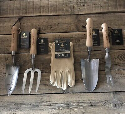 Unisex Garden Gift Set, Kent & Stowe,SS Hand Tools & Luxury Gloves, Gift Wrapped