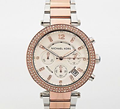 Michael Kors Women's MK5820 Chronograph Parker Two Tone Stainless Steel Watch