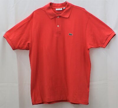 Lacoste  Mens Classic Fit Polo Shirt Sirop Pink Sz 6/XL