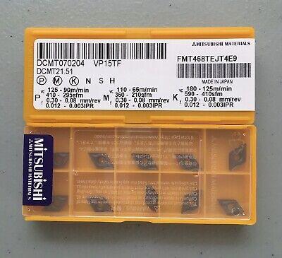 Mitsubishi Dcmt 21.51 Dcmt 070204 Vp15tf Carbide Inserts 10 Pcs