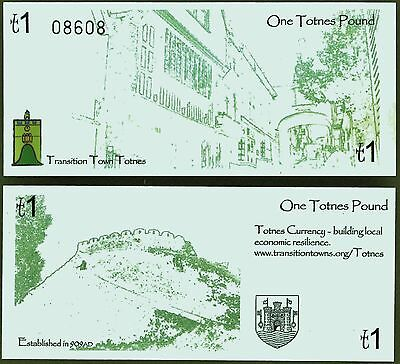 England / Totnes - £1 Banknote, 2008 series, now very rare and seldom sold. UNC.