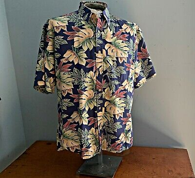 Cooke Street Honolulu Fine Cotton Floral Aloha Shirt Med Great Colors Fine Cotton Shirt
