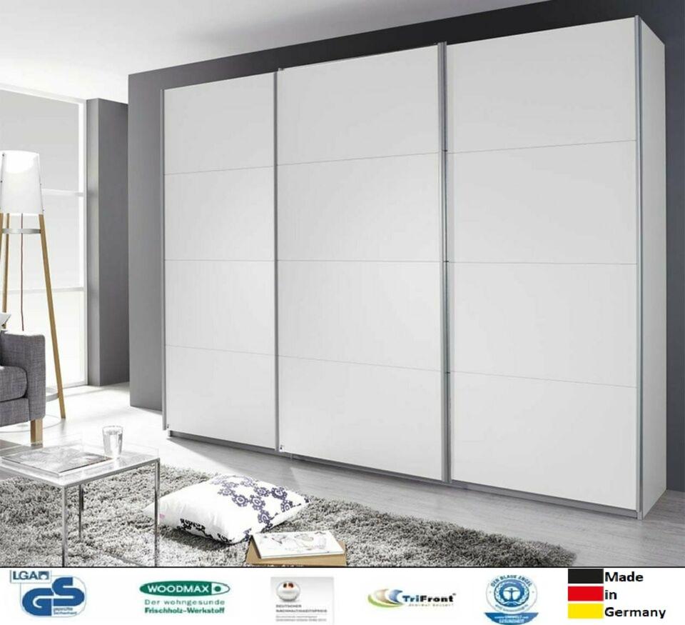 Kleiderschrank  Weiß in 4 Breiten 203 cm bis 360 cm m. Lieferung in Darmstadt