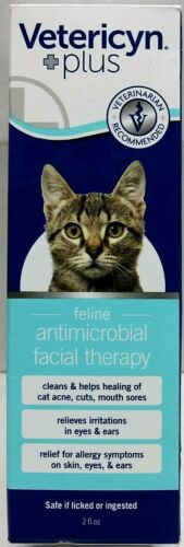 Vetericyn Plus Feline Antimicrobial Facial Therapy Care for Cat Acne 08/2021 NEW