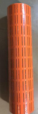 10 Rolls 5000 Tags Orange Labels For Motex Mx-5500 L5500 Mx989 Price Gun 30