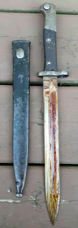 Chilean Military M1895 Mauser Bayonet Knife w/ Scabbard