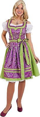 Ladies Deluxe Oktoberfest German Fancy Dress Costume Outfit UK 8-20 Plus Size](German Female Outfit)
