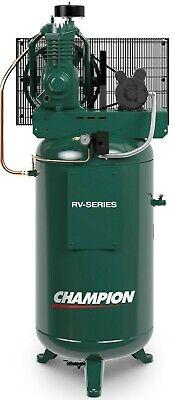 Champion 5 Hp 2 Stage 1 Phase 230 Volt 19.1 Cfm Air Compressor 2v41c60vc Quincy