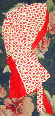 Handmade womens pioneer lady adult size Strawberry strawberries bonnet costume