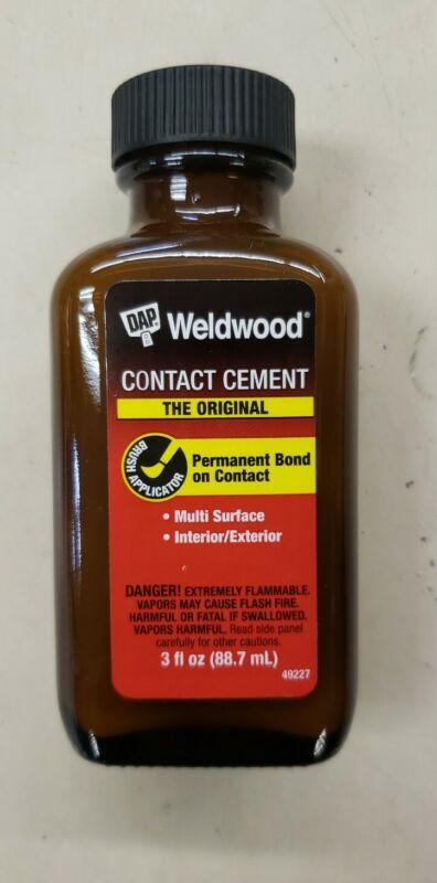 DAP Weldwood Contact Cement Rubber Cement High Strength 3oz Permanent Bond 49226