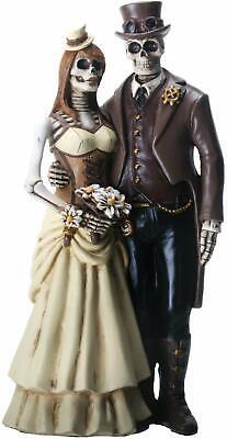 Halloween Wedding Cake Topper (Steampunk Wedding Couple Skeleton Halloween Wedding Cake Topper)