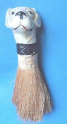 Vintage Porcelain Dog Half Doll  With Brush