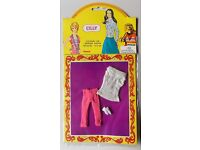 """VINTAGE TOPPER DAWN GO-GO/'S CLONE CILLY DOLL MINI-OUTFIT 15,5cm// 6/"""" PUPPE"""