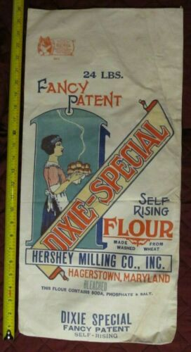 DIXIE-SPECIAL Flour Bag 1920s or 1930s? Vintage HAGERSTOWN MD Hershey Milling Co