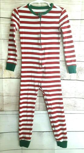 Old Navy 5T Holiday stripe  onepiece PJ.full front zipper 100%cotton