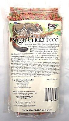 Sugar Glider Food 12oz pellets, sugarglider diet Pretty Pets 3x bulk