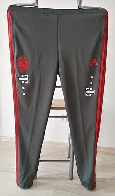 FC Bayern München Trainingshose lang 2018/19 mit Sponsoren, Matchworn, Teamwear
