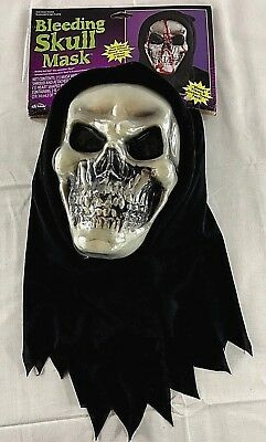 Dripping Bleeding Mask, Two Layer Skull, Adult Costume Mask Ages 15+ - Wall-e Adult Costume